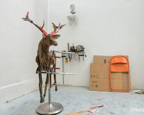 Hirsch 2018 im Atelier